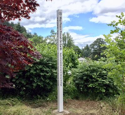 Peace Pole West Linn Interact Club and Rotary of West Linn, Oregon, USA