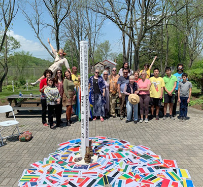 Symphony of Peace Prayer Flag Ceremony at The World Peace Sanctuary, Wassaic, NY