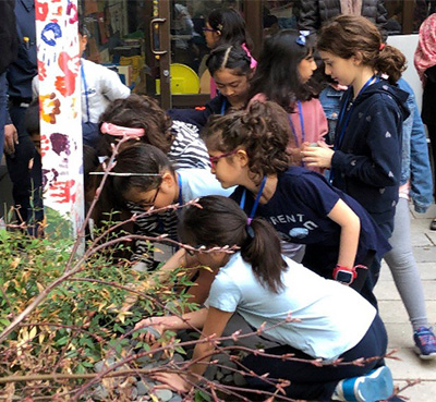 The United Nations International School Teaches Peace by Creating Peace Pole. NY, NY USA