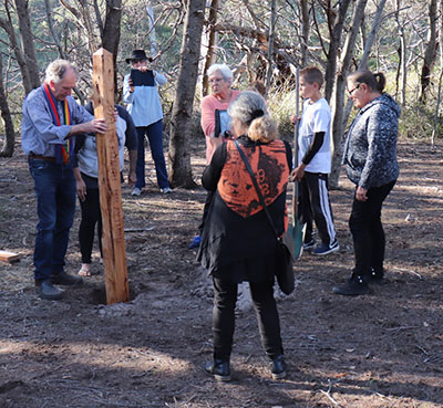 SOPP and Peace Pole Honors   The Aboriginal Counsel at Wind Song, Little Swanport, Tasmania