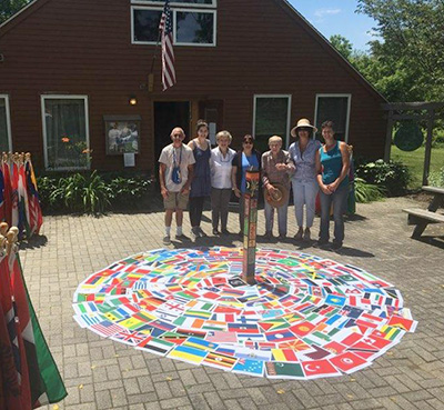 World Peace Sanctuary Flag Ceremony Wassaic, NY