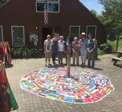 World Peace Sanctuary Flag Ceremony Wassaic, NY