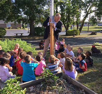 Canton Montessori Celebrates Peace Pole, Canton, Ohio USA