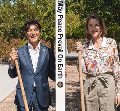 Peace Pole Dedication at Shaklee Corporation Pleasanton, CA