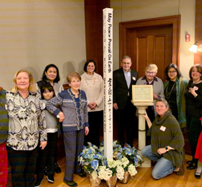 Peace Pole to Celebrate Extensive Diversity of Cloisters West Community, Washington D.C.