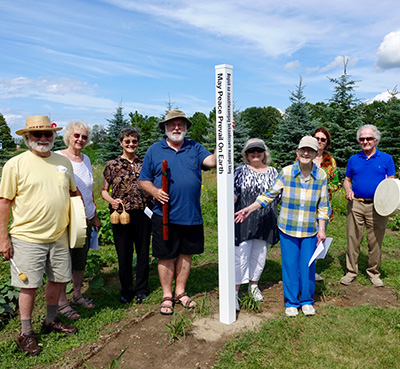 Peace Pole Planting Egg Harbor, WI