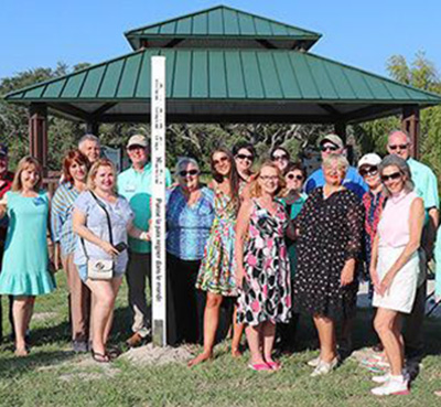 Rockport Rotary Plants Peace Pole in Hurricane Harvey Hit Community. Rockport, Texas